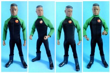 LoucoPorBonecos - Gi Joe Super Joe - BLACK/GREEN JUMPSUIT